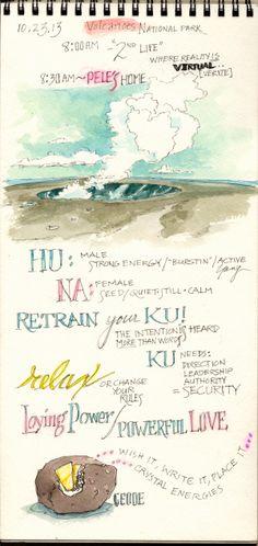 Huna lessons, Big Island, Hawaii.