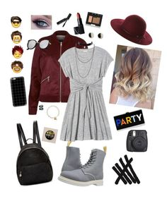 """""""5sos concert outfit"""" by jillianuhl ❤ liked on Polyvore featuring Dr. Martens, River Island, Rebecca Taylor, Casetify, Erica Weiner, Fallenbrokenstreet, STELLA McCARTNEY, NARS Cosmetics, Bobbi Brown Cosmetics and Eva Fehren"""