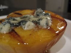Grilled Peaches with Blue Cheese and Honey
