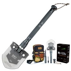 Pagreberya Compact Outdoor Folding Shovel with Knife and Fire Starter - Perfect for Snow Shovel * Find out more about the great product at the image link.