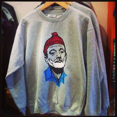 Bill Murray Portrait 'Life Aquatic' Inspired Sweater on Etsy, $37.87