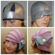 DIY Boiled Wool Cloche Hat Tutorial from alvan at Craftster. Go to the link to see how cleverly she made this pattern with a stocking a duct tape. I can see this technique being used for custom headwear for cosplay. *alvan suggested that fleece could be substituted for wool.