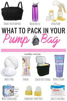 What to pack in your pump bag when you return to work full time. Breastfeeding mama must read! Tips to help increase and maintain milk supply while pumping for baby. baby feeding What To Pack in Your Pump Bag Milk Storage Bags, Baby Supplies, Return To Work, Pumps, After Baby, Baby Hacks, Baby Tips, Breastfeeding Tips, What To Pack