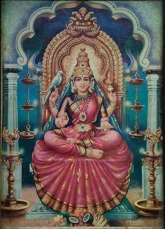 Rare painting of Shringeri Sharadamba....