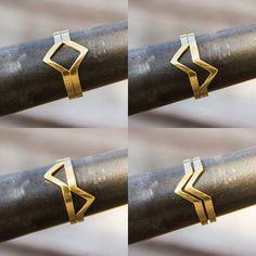 """77 Me gusta, 11 comentarios - Vanessa Clark Joias (@vanessaclarkjoias) en Instagram: """"Sabia que a gente pode fazer todos os anéis em ouro também? Olha o anel losango como fica lindo em…"""""""