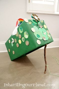 It doesn't get more traditional than this stick and box trap. But with a little creative decorating, the trap is the perfect lure for a little mischief-maker. Source: Inheriting Our Planet