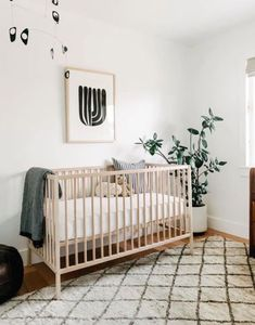 Charm Meets Sophistication in This Stylish Nursery | Follow our Pinterest page at @deuxpardeuxKIDS for more kidswear, kids room and parenting ideas