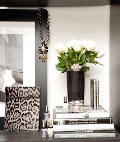 Entry table: Animal prints + black & white