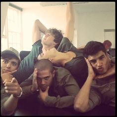 The Wanted's fabulous posing