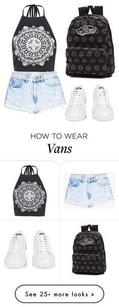 """Untitled #10"" by yolina-lazarova on Polyvore featuring Boohoo, MANGO, adidas and Vans"