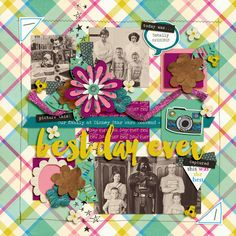 Digital Scrapbook Layout using Best Day Ever by Brook Magee and Studio Basic Designs and Trifecta 06 – Oops, I Grid It Again template by Brook Magee