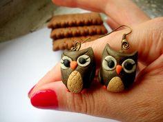 earrings polymer  ho deciso mi farò 2 piccoli gufetti!!!