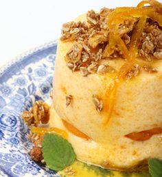 Espuma de naranja y mandarina #receta #postre #light #citricos