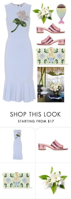 """""""Embellished Flowers"""" by cherieaustin ❤ liked on Polyvore featuring Dolce&Gabbana and Maryam Nassir Zadeh"""