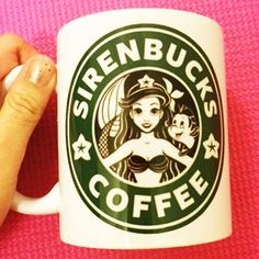 Sirenbucks Coffee Mug |  The Little Mermaid Ariel Starbucks |  Disney Princess