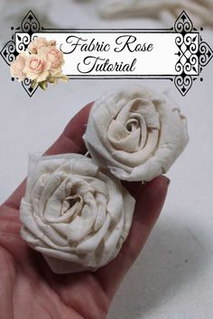 Ideas For Diy Baby Headbands Flowers Fabric Roses Rolled Fabric Flowers, Fabric Rosette, Cloth Flowers, Burlap Flowers, Diy Flowers, Handmade Flowers, Flower Crafts, Fabric Roses Diy, Flower Fabric