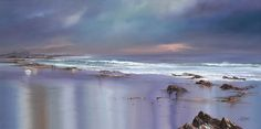 """Silent Memories, 48"""" x 24"""", Oil on canvas painting - part of the Pure Shores collection from Philip Gray"""