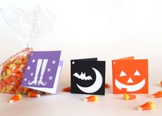 Halloween folded gift tags - pumpkin set $4.00 Tiffzippy