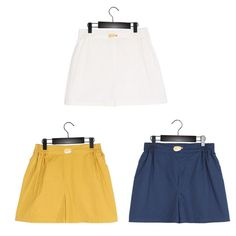Women Casual Loose Shorts Sushi Embroidery Elastic Waist Simple Style Pants