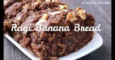 Ragi banana walnut bread is an easy and healthy banana bread with millet flour and oats It is a sweet and moist banana bread recipe Banana Walnut Bread Healthy, Banana Bread Cake, Healthy Banana Bread, Healthy Cake, Banana Bread Recipes, Ragi Recipes, Eggless Recipes, Eggless Baking, Eggless Desserts