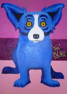 Blue Dog George Rodrigue Tee Blue