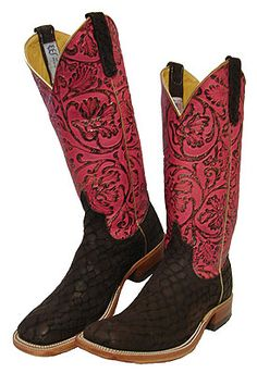 Anderson Bean Dark Loch Ness Boots with Pepto Antique Tops for Women