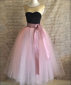 Full length sewn unlined tulle skirt. by TutusChicBoutique on Etsy