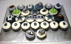 How bout dem Cowboys Cowboy Cupcakes, Cupcakes For Men, Cute Cupcakes, Cupcake Cookies, Dallas Cowboys Kuchen, Dallas Cowboys Party, Cowboy Birthday, Cowboy Party, Shoe Box Cake