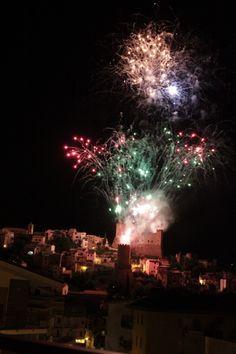Itri in Lazio, Italy - Italia Feast of Saint Mary - La Madonna della Civita Fireworks, Old World, Vintage
