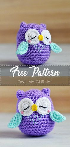 Owl Amigurumi – Pattern Free #crochetpattern #crochet #freecrochetpattern #crochetamd #crochetlove #diy #tutorialcrochet #videocrochet #pattern Crochet Penguin, Crochet Keychain Pattern, Crochet Birds, Crochet Amigurumi Free Patterns, Crochet Teddy, Easter Crochet, Crochet Bear, Easy Crochet Patterns, Crochet Dolls