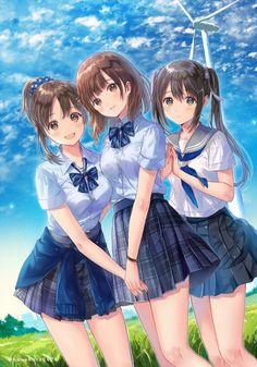 #Fille uniforme écolière JK #Dessin hanekoto2424 #Manga