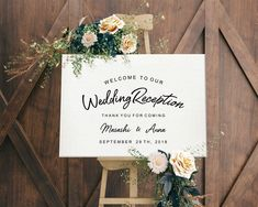 Rose Gold Wedding Welcome Sign Template, Printable Wedding Reception Signs, Rustic Wedding Signs, Wedding Programs, Wedding Ideas, Wedding Inspiration, Wedding Receptions, Chic Wedding, Trendy Wedding, Gold Wedding