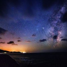 'The Cove' Aireys Inlet Victoria Australia. My favourite place so far for Astrophotography and stargazing. The Milky Way over the ocean is one thing  but the shimmering lights of the small coastal town make it look so much better!  Canon 6D 14mm f 2.8  Iso 3200 30 second exposure by nightpixels