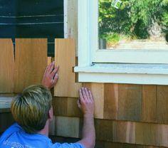 Installing Cedar Shingle Siding on an Old House