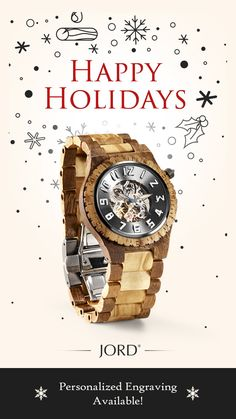 Shop our collection of wood watches for men. JORD is a premium designer of hand-crafted wood watches for him. Wooden Watches For Men, Wood Watch, Natural Wood, Happy Holidays, Unique Gifts, Free Shipping, Greed, Harry Potter, Crafts