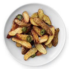 These spectacular potato recipes include creamy potato salad, crispy french fries, bacony mashed potatoes and more. Roasted Potato Recipes, Jalapeno Recipes, Spicy Recipes, Wine Recipes, Cooking Recipes, Roasted Jalapeno, Delicious Recipes, Potato Sides, Potato Side Dishes