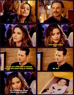 Halstead: Just do me a favor. Let me run a DNA test on him just in case this whole thing is a fantasy. Lindsay: No. Halstead: No? Lindsay: If it is a fantasy, let me live in it for a minute. (4x10)