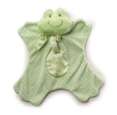 "Dottersworth Frog Satineesnug 13"" Plush Blanket"
