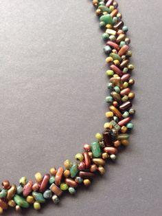 Beth Stone Designs. Seed bead woven. Bead soup