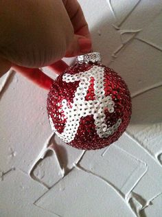 Alabama Crimson Tide Sequin Christmas Ornament Roll Tide on Etsy, $18.00