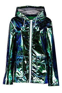 Women's Outwear for Burning Man: green hologram jacket #burningman