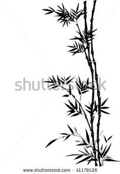 Asian Borders Free | Vector bamboo border in traditional Chinese painting style - stock ...