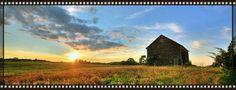 Abandoned barn. Hudson Valley Sunrise