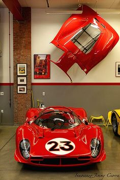 1966 330 P3 | Chassis 0846 | Original 330 P3 Converted to P4 | Only 3 330 P3s were made | As 2 were converted to 412s and Chassis 0846 was converted to the only P3/4, there are no longer any Ferrari...