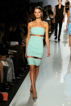 The Spring 2010 collection was totally architectural — Michael played with plastic insets and origami folding.