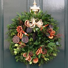 Christmas Grave Wreath Christmas Flower Wreath From Reed