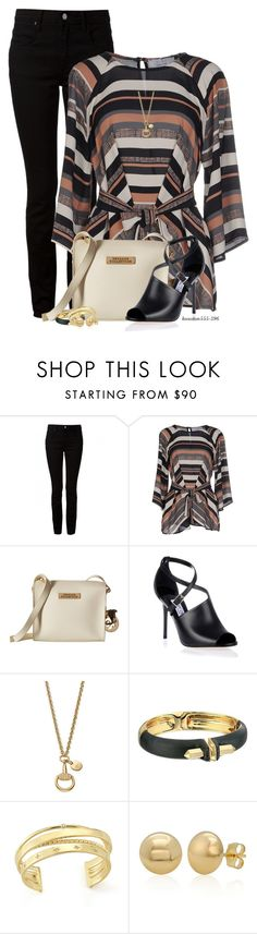 """""""No Worries"""" by houston555-396 ❤ liked on Polyvore featuring T By Alexander Wang, KAOS, Versace, Jimmy Choo, Gucci, Alexis Bittar, Elizabeth and James and Belk & Co."""