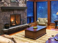 Heat and Glo Rutherford Wood Fireplace