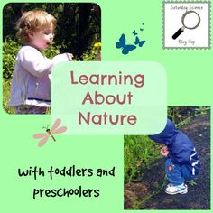 Exploring nature with toddlers and preschoolers