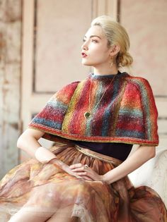 09 – Steeked Capelet | Knitting Fever Yarns & Euro Yarns